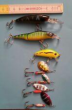 minnow spinning esche artificiali rotanti pesca lago trote lucci bass
