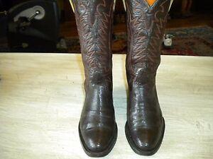 Bronc Boot Company Of El Paso Tx Brown/ Black Boots 6.5 C