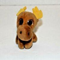 2017 McDONALDS TY TEENIE BEANIE BOOS Chocolate Moose Doll Brown #5 Plush Toy