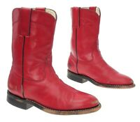 CORRAL Cowboy Boots 3 M Girls Youth RED Leather WESTERN Rodeo Roper Show Boots
