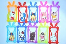 Universal Silicone Phone Case 3D cartoon cover elastic frame w/ ears pack 10pcs