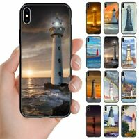 For Samsung Galaxy Series Lighthouse Tower Print Back Case Mobile Phone Cover #2