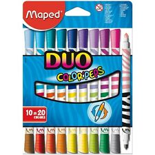 Maped Color'peps Duo Double Ended Felt Tip Pens Pack Of 10 Pens = 20 Colours