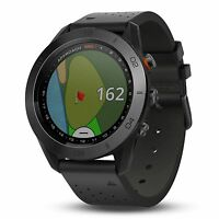 Garmin Approach S60 Golf Watch w/ Touch Screen & Black Leather Band 010-01702-03