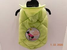 32 Degrees Heat Neon Yellow Dog Puffer Vest Jacket Sz S Small