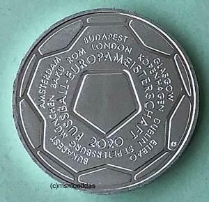 Deutschland BRD 20 Euro 2021 Fußball Europameisterschaft EM Silber Euromünze