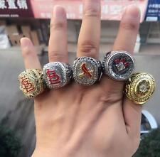 5pcs 1926 1987 2006 2011 2013 St Louis cardinals World Series Championship Rings