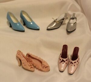 "Lot 4 Pair Doll SHOES 16"" Fashion Doll Tyler Wentworth Gene Marshall Heels"