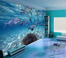 Modern 3D Ocean world Wallpaper Bedroom Mural TV Background Wall Decor