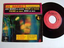 "QUATUOR HARMO'S virtuoses harmonica : Aria suite en ré (Bach) 7"" EP TRIANON 4572"