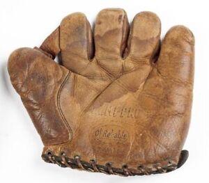 "1910'/20's Ol'  Reliable 1"" Web Semi Pro Baseball Glove, 9"" Wide x 8.5"" High"
