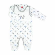 Baby Set Strampler mit Wickeltshirt blau Hund NEU Größe 62 Junge Mädchen