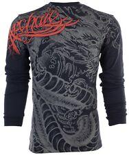 Archaic by affliction Masculina Manga Longa T-shirt Dragon Rage BIKER UFC Preto $58
