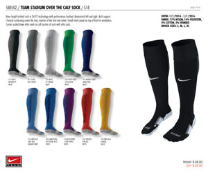 Nike Stadium Soccer Sock Performance Cushioned OTC Medium Gold800265-739