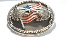 Dual Eagle Freedom Trophy Belt Buckle