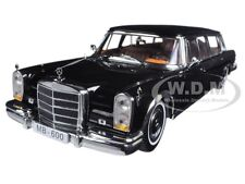 1966 MERCEDES 600 PULLMAN LIMOUSINE BLACK 1/18 DIECAST MODEL CAR BY SUNSTAR 2202
