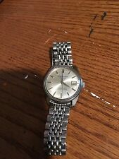 Vintage Seiko Sportsman Calander 17 Jewels Silver Tone  Mens Watch