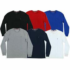 Tommy Hilfiger Mens T-Shirt Long Sleeve Crew Neck Casual Tee L Xl Xxl Xxxl New