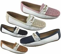 Ladies Moccasin Womens Loafers Casual Shoes Summer Flat Slip On Comfort Pumps