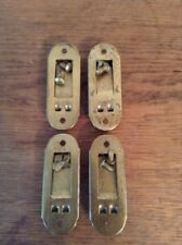 HARTMANN Luggage Suitcase Feet 4 Removable Brass Skids Covers Hardware Vintage
