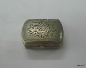 Vintage Antique ethnic Collectible old silver Box handmade silver Box