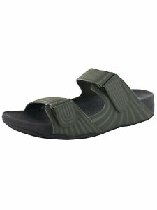 Fitflop Mens Gogh Sport Slide Adjustable Sandal Shoes, Everglades, US 11