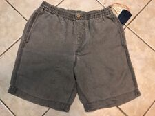Tommy Bahama Linen the Dream Lounger Shorts Mens S Storm Gray NWT $88