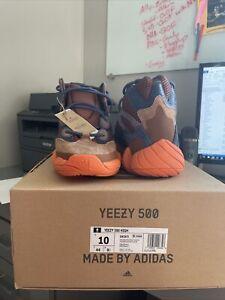 Size 10 - adidas Yeezy 500 High Tactical Orange 2021 - Torn Box