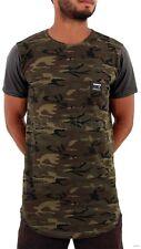 Time Is Money, Homme Longue Créateur T-Shirts, Camouflage Armée ,