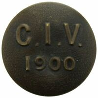 Boer War City of London Imperial Volunteers Regiment 1900 Tunic Button 24mm LC79
