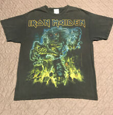 Vtg 90s Iron Maiden Band Tee - All Over Print Album Tee Rock Promo - Sz Lg