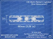 1/18 Multi-Pattern Lightbar Circuit Board Diecast Police Working Lights