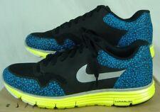 New Womens 8.5 NIKE Lunar Safari Black Blue Lime Party Running Shoes $110
