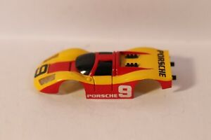 TYCO Porsche 908 Long Nose Yellow and Red #9 Body Only Very Good Condition