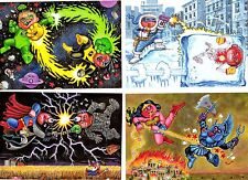 2014 Garbage Pail Kids GPK Series 2 BATTLE BATTLES Complete insert 4-card set NM