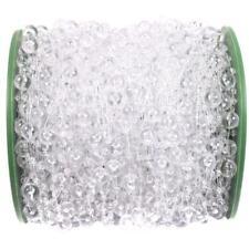 60M Garland Hanging Plastic Crystal Clear Bead Chandelier Wedding Decor Supplies