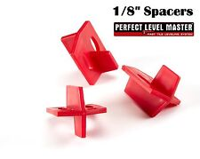 """1/8"""" PERFECT LEVEL MASTER Quality 3 side tile spacers - Cross and T Floor wall"""