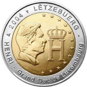 2 euros LUXEMBOURG 2004 UNC effigie  du Grand-Duc Henri NOUVEAU PROMO OCTOBRE
