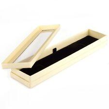 1 Single Bracelet Necklace Jewellery Cream Display Box Tray Case Stand Storage