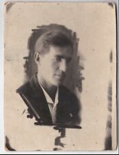 1937 Handsome young man fashion Russian antique photo gay interest