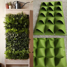 15 Pockets Vertical Greening Hanging Wall Garden Planting Bags Wall Planter HOT