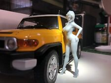 UnPainted 1/18 Resin Sexy Female bikinis Figure for Autoart-kysho Or Other Brand