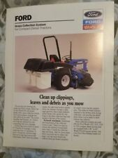 Ford 1220 Tractor Grass Collection Brochure sheet