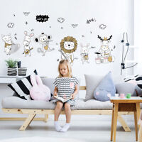 New Cute Animal Wall Sticker Cartoon Wallpaper Mural For Kids Room Nursery Decor