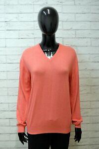 Maglione Donna Generico Maglia Cardigan Felpa Taglia 2XL Pullover Lana Rosa Wool