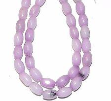 "NG1434f Purple Malay Jade 9x7mm-10x7mm Tapered Oval Quartz Gemstone Beads 15"""