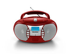 Karcher RR 5025-R tragbarer CD Player - UKW Radio - AUX-In - Rot / Silber