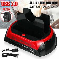 More details for ide sata dual hard drive hdd docking station usb hub + card reader uk