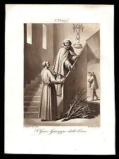 santino incisione acquatinta 1800 S.GIOVANNI GIUSEPPE DELLA CROCE