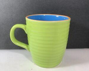 Tams Of England Green Blue Bee Hive Ridged Ceramic Coffee Mug